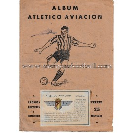 """ATLÉTICO AVIACIÓN"" 1940s football card album"