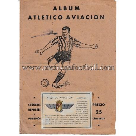 """Album de cromos """"ATLÉTICO AVIACIÓN"""" 1940s"""