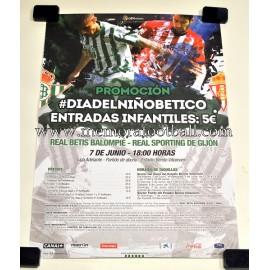 Cartel Real Betis vs Sporting de Gijón 07/06/2015 (ascenso del Sporting a 1ª división)