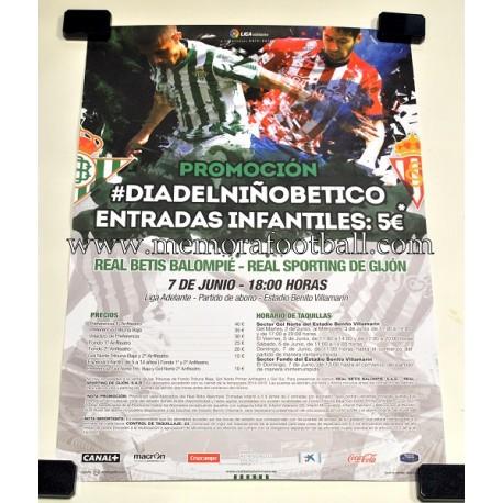 Real Betis vs Sporting de Gijón 07/06/2015 match poster