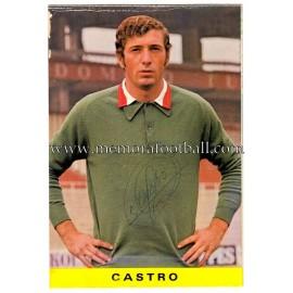 "Tarjeta postal firmada de ""CASTRO"" Sporting de Gijón 1972"