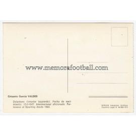 """Tarjeta postal firmada de """"TATI VALDÉS"""" Sporting de Gijón 1972"""