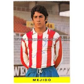"Tarjeta postal firmada de ""MEJIDO"" Sporting de Gijón 1972"