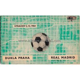 Dukla Prague v Real Madrid (European Cup) 1964/65 programme