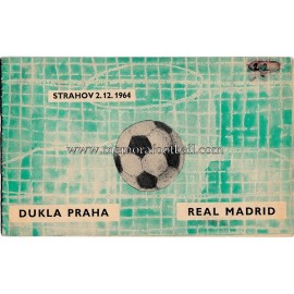 Programa Dukla Prague v Real Madrid (Copa de Europa) 1964/65