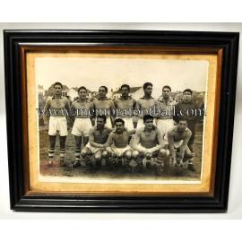 Fotografía firmada y enmarcada del Racing de Ferrol 1951-52
