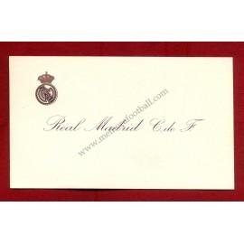 Real Madrid CF, Tarjeta de visita 1950-1960