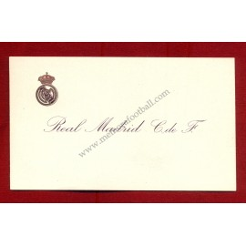 Real Madrid CF visiting card 1950-1960