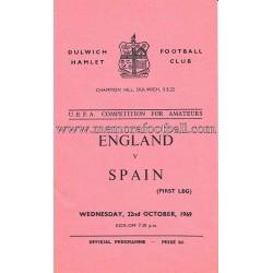 England v Spain 1969 UEFA...