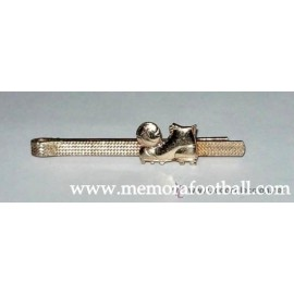 Tie clips, with ball and football boot, circa 1940