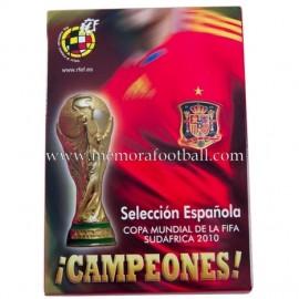 Colección completa de tarjetas postales de la selección española FIFA World Cup 2010