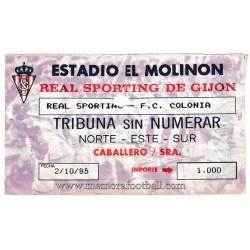 Sporting de Gijón v FC Köln...