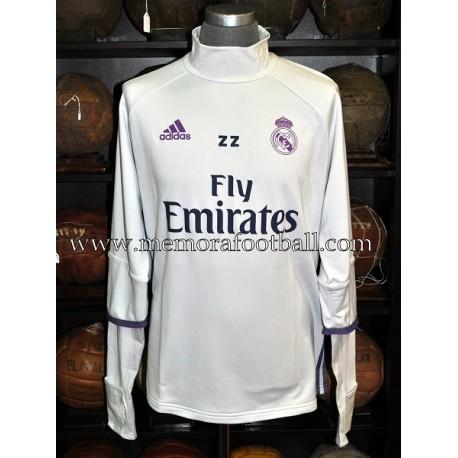 ZINEDINE ZIDANE Real Madrid 2016-17 sudadera usada en entrenamientos
