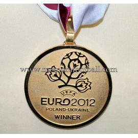 UEFA Euro 2012. Gold Winner's Medal Spain