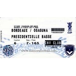 Bordeaux v Osasuna...