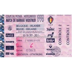 Entrada Bélgica vs Irlanda...
