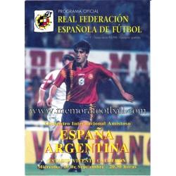 Programa ESPAÑA v ARGENTINA...