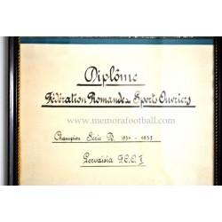 1935, Diploma enmarcado, Suiza