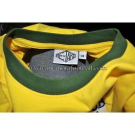 """PELE"" camiseta retro de Brasil firmada 1970 FIFA World Cup"