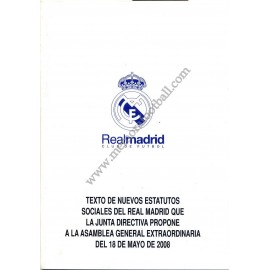 Real Madrid CF Statutes 2008