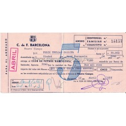 FC Barcelona season ticket...