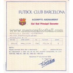 Abono del FC Barcelona...
