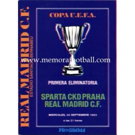 Real Madrid vs Sparta CKD Praha 1983 Copa UEFA