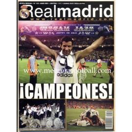 Real Madrid CF magazine, June 2001