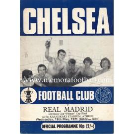 Chelsea vs Real Madrid 1971 European Cup Winners´Cup Final