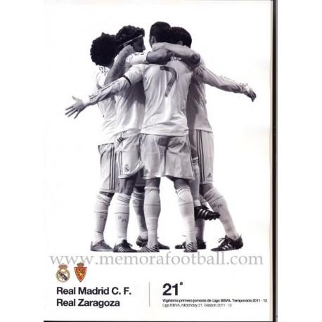 Real Madrid CF vs Real Zaragoza Spanish League 2011-2012