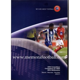 UEFA Competitions 2010/11 Results. Official Report
