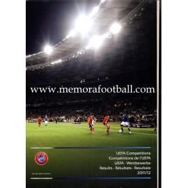 UEFA Competiciones 2011/12 Resultados. Informe Oficial