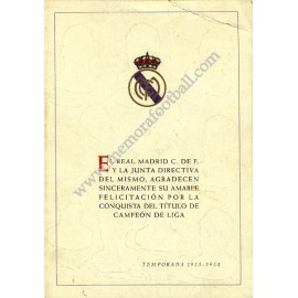 Real Madrid, 1953-54 Spanish League champion