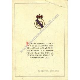 Real Madrid, Campeón de Liga 1953-54