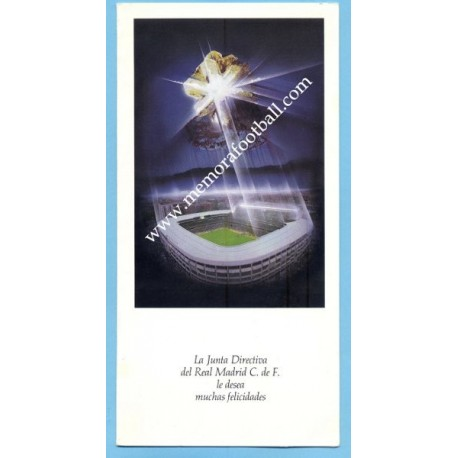 Real Madrid, 1980s Christmas card