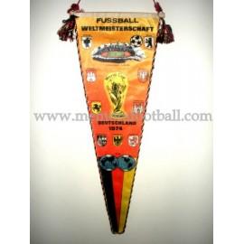 FIFA World Cup 1974 souvenir pennant