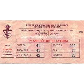 Final Copa del Rey 1989. Real Madrid vs Real Valladolid