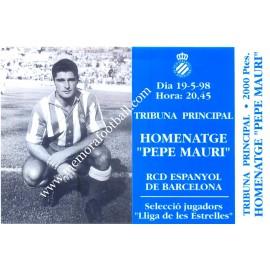 "Entrada del ""Partido Homenaje a Johan Cruyff"" 1999"