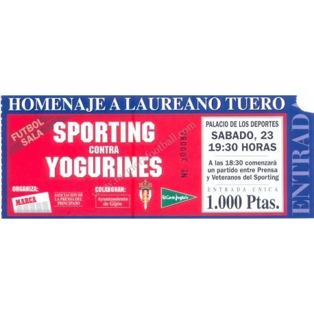 """Sporting Gijón vs Yogurines """"Laureano Tuero Testimonial"""" 1995"""