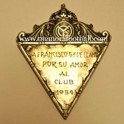 Real Madrid CF medal, 1954