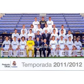 REAL MADRID CF temporada 2011-2012 (postal de gran tamaño)