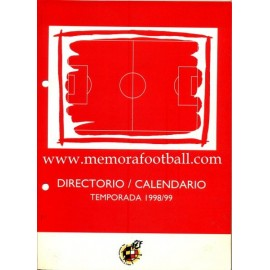 Directory - Calendar Spanish League 1998/1999