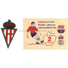 Escudo adhesivo del Sporting de Gijón, 1973