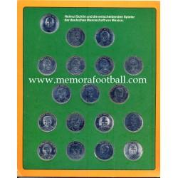 1970 FIFA World Cup Mexico colección de monedas del la Selección Alemana