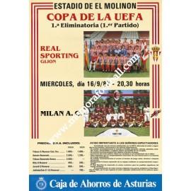Sporting de Gijón vs AC Milan Copa UEFA 16/09/87