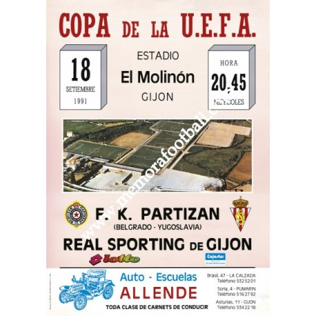 Sporting de Gijón vs AC Milan UEFA 16/09/87