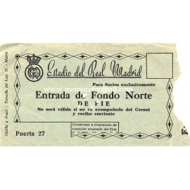 Real Madrid early 1950s ticket