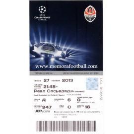 Shakhtar Donetsk  v Real Sociedad Champions League 2013-2014