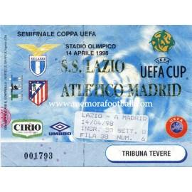SS Lazio vs Atlético de Madrid Semifinal Copa UEFA 14-03-98