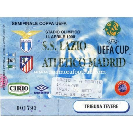 SS Lazio vs Atlético de Madrid UEFA SemiFinal 14-03-98
